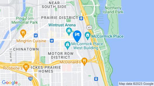 Hyatt Regency McCormick Place Map
