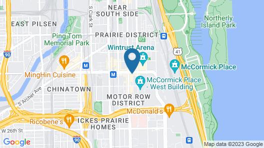 Hilton Garden Inn Chicago McCormick Place Map