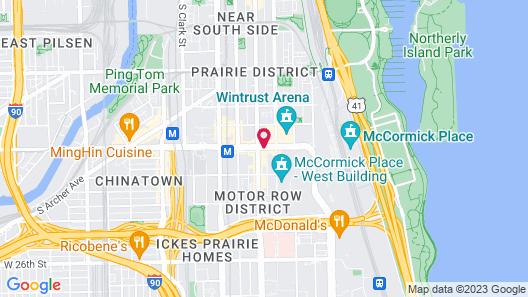 Hampton Inn Chicago McCormick Place Map