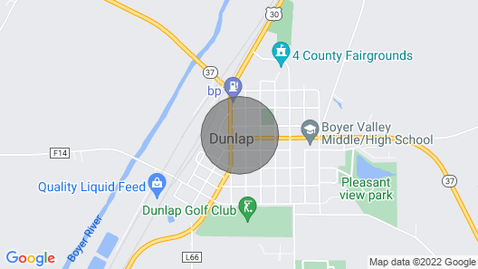 Cozy Historic Loft Downtown Dunlap, Iowa - Home Away From Home Map