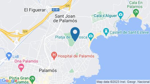 Camping Internacional Palamos Map