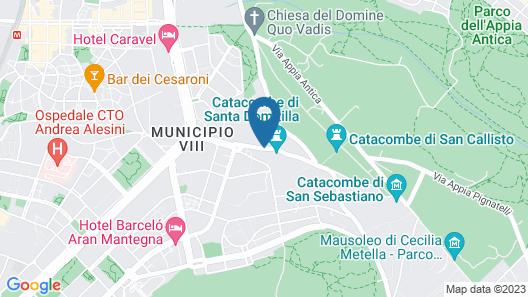 Kolping Hotel Casa Domitilla Map