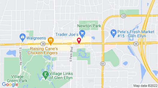 Budgetel Inn Glen Ellyn Map