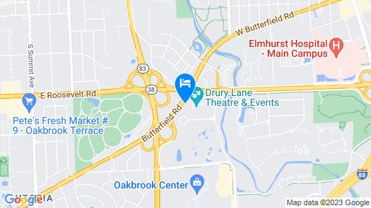 Hilton Chicago/Oak Brook Suites Map