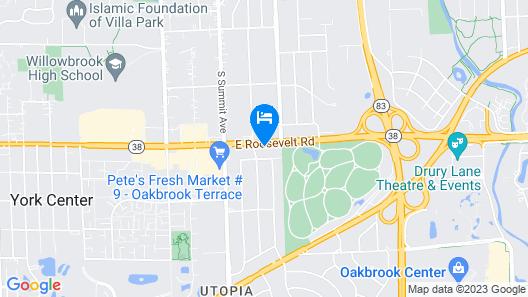 Comfort Suites Oakbrook Terrace near Oakbrook Center Map