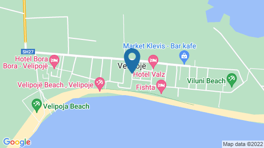 Hotel Lakaj 2 Map