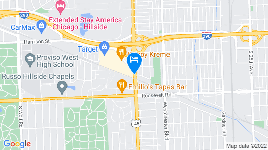 Holiday Inn Express Hotel & Suites Chicago West-O'hare Arpt, an IHG Hotel Map