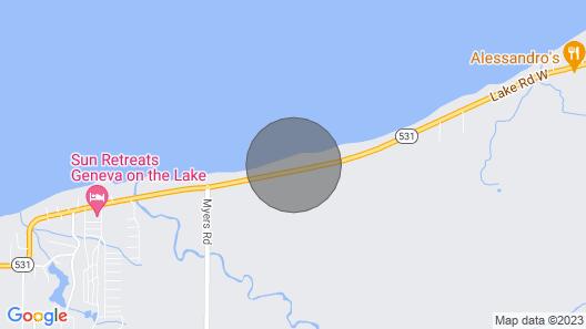 Lakefront Brand NEW Private Cottage Huge Deck 2bdrm Map