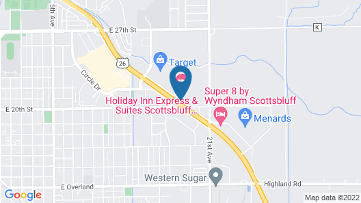 Holiday Inn Express Hotel & Suites Scottsbluff-Gering Map