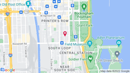 Homewood Suites by Hilton Chicago Downtown South Loop Map