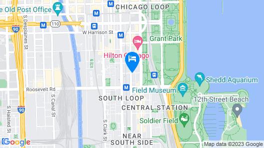 Hilton Garden Inn Chicago Downtown South Loop Map