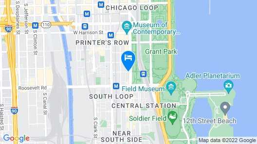 Best Western Grant Park Hotel Map