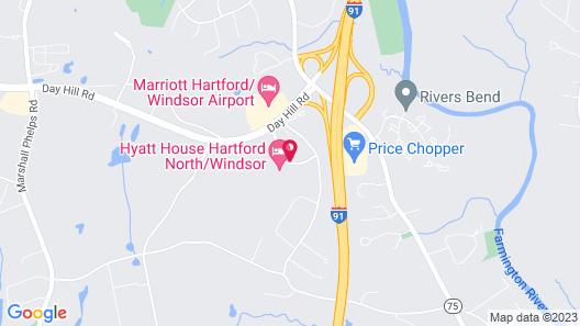 HYATT house Hartford North/Windsor Map
