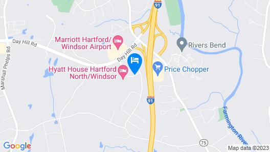 Hilton Garden Inn Hartford North/Bradley Int'l Airport Map