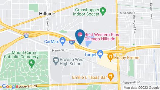 Best Western Plus Chicago Hillside Map