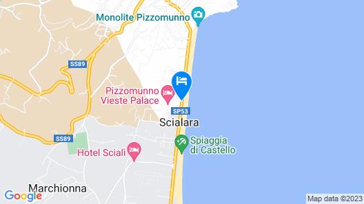 Pizzomunno Vieste Palace Hotel Map