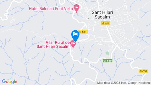 Vilar Rural de Sant Hilari Map