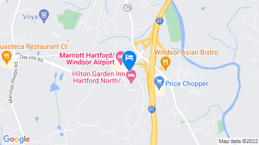 Courtyard By Marriott Hartford/Windsor Airport Map