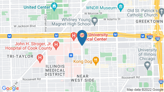 Chicago Marriott at Medical District/UIC Map