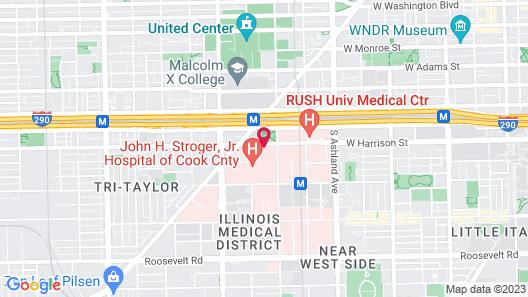 Hyatt Place Chicago Medical/University District Map