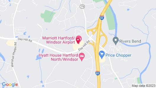 Marriott Hartford/Windsor Airport Map