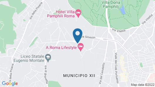 A.Roma Lifestyle Hotel Map