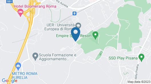 Hotel Roma Aurelia Antica Map