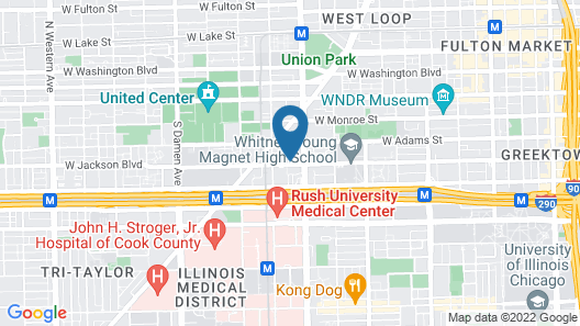 Hotel Chicago West Loop Map