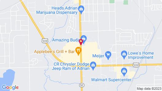 Hampton Inn & Suites Adrian, MI Map