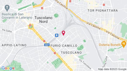 B&B Hotel Roma Tuscolana San Giovanni Map