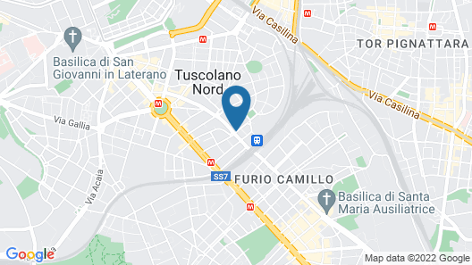 Hotel Tuscolana Map