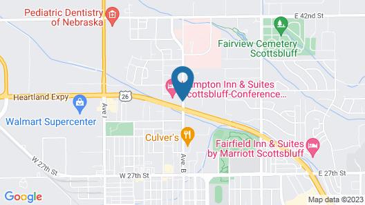 Hampton Inn & Suites Scottsbluff Conference Center Map