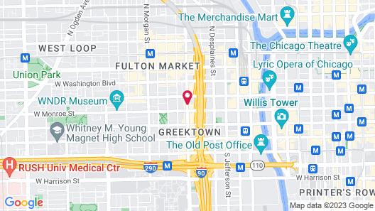 Crowne Plaza Chicago West Loop, an IHG Hotel Map