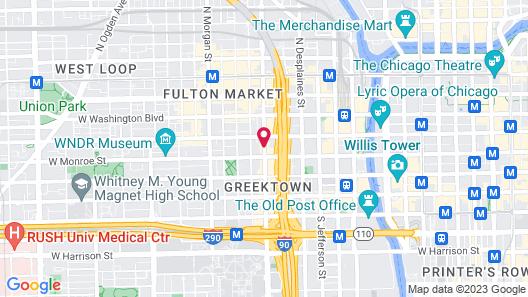Crowne Plaza Chicago West Loop Map