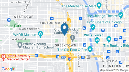 Crowne Plaza Chicago West Loop Map