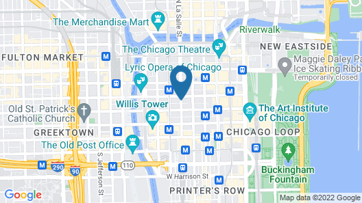 Residence Inn Chicago Downtown/Loop Map