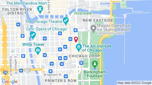Chicago Athletic Association, part of Hyatt Map