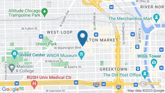 Hyatt House Chicago West Loop Map