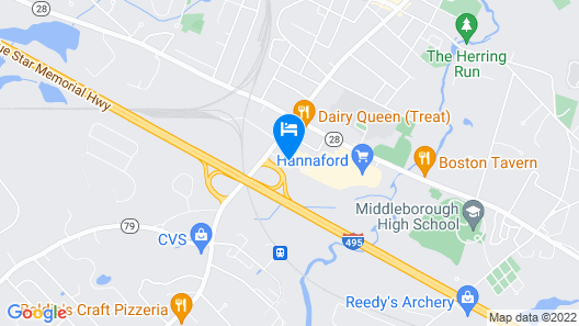Quality Inn Middleboro-Plymouth Map