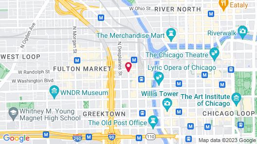 Hampton Inn Chicago Downtown West Loop Map