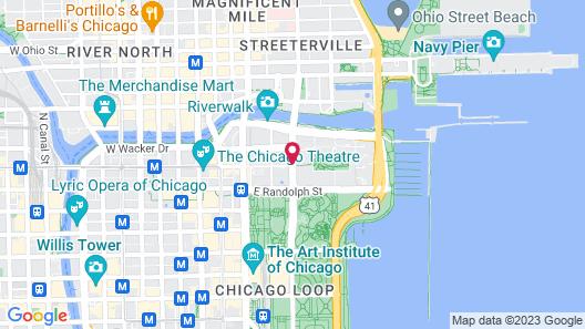 Fairmont Chicago at Millennium Park Map