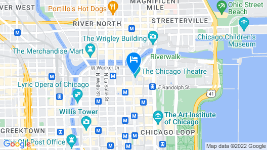 theWit Chicago - a DoubleTree by Hilton Hotel Map