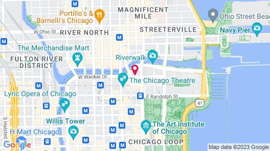Hilton Garden Inn Chicago Downtown Riverwalk Map