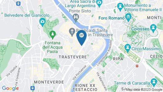 Relais Le Clarisse a Trastevere Map