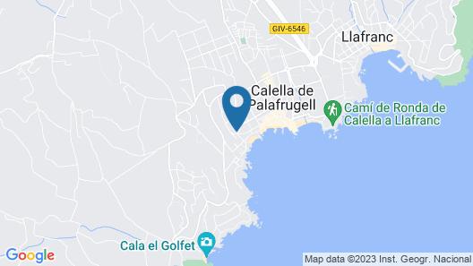 Hotel Calella de Palafrugell Map