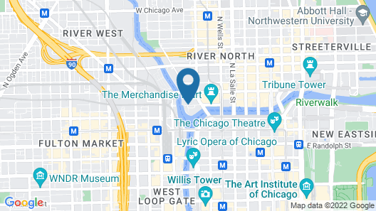 Holiday Inn Chicago-Mart Plaza River North, an IHG Hotel Map