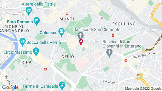 Hotel Capo d'Africa - Colosseo Map