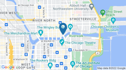 The Langham, Chicago Map