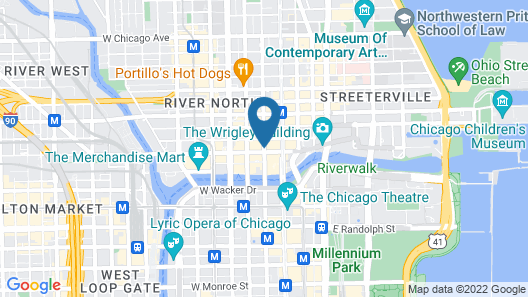 Residence Inn by Marriott Chicago Downtown / River North Map