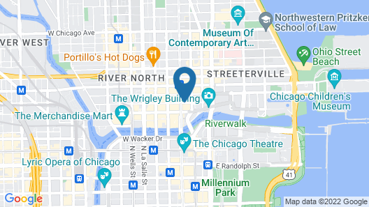 Courtyard by Marriott Chicago Downtown River North Map